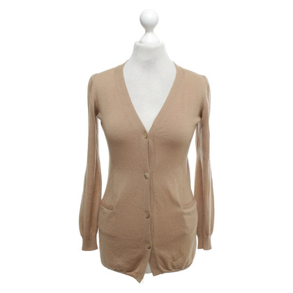 Jil Sander Cognac-colored cardigan