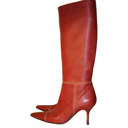 Dolce & Gabbana Stiefel aus rotem Leder
