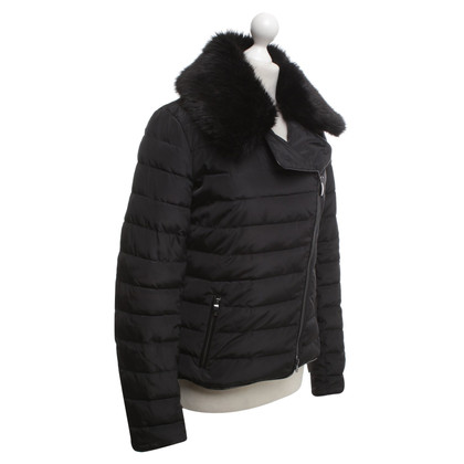 Armani Jeans Jacket with fake fur trim