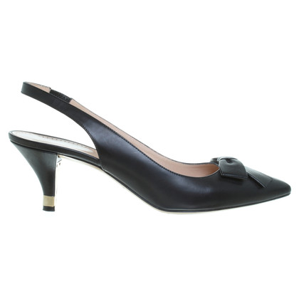 Bally Kitten Heels in Schwarz
