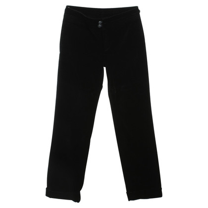 Stefanel trousers in velvet look in black