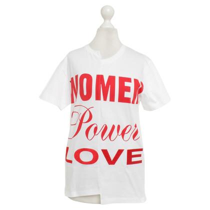 Stella McCartney T-shirt in bianco / rosso