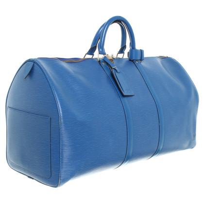 "Louis Vuitton Weekender ""Keep All"" Epi in blue"