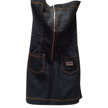 Philipp Plein Silk/denim dress