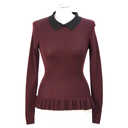 Karen Millen Pullover in Bordeaux