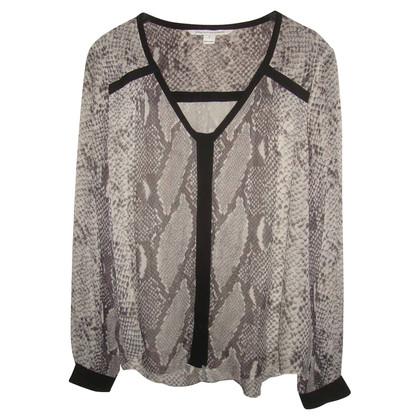 Diane von Furstenberg Camicia di seta stampa leopardo