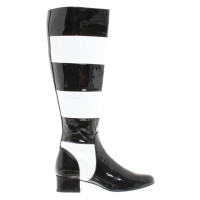 Saint Laurent Boots with stripe pattern