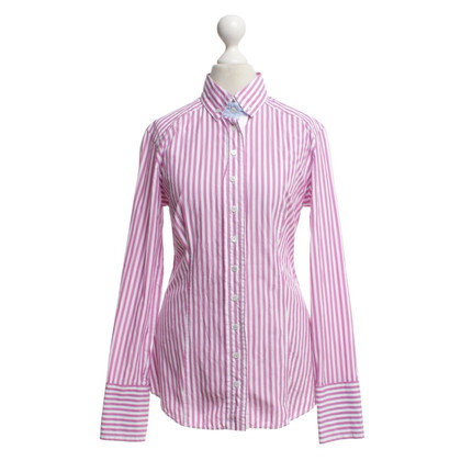 Van Laack Blouse with stripes in pink / white
