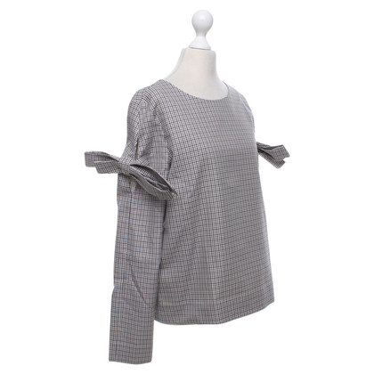 Cos top houndstooth pattern