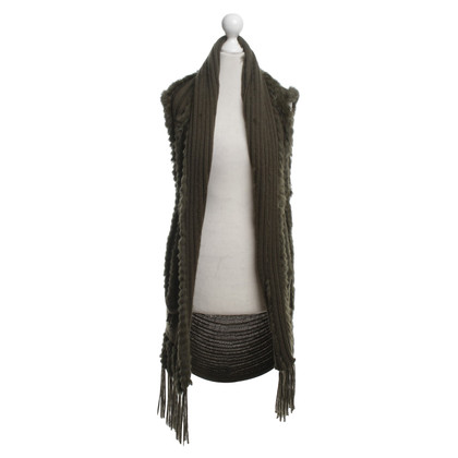 Leonard Knitted vest with fur trim