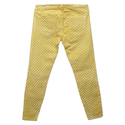 Current Elliott Yellow trousers with polka dots