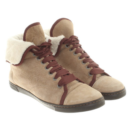 Lanvin Lace up suede suede