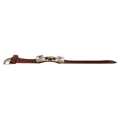 Proenza Schouler Brown Leather Bracelet