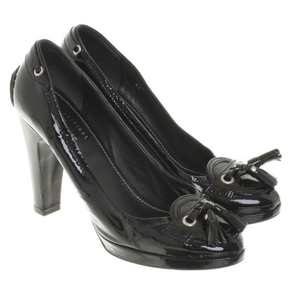 Car Shoe Pumps aus Lackleder