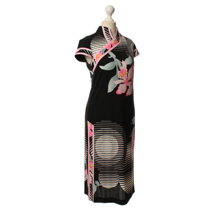 Leonard Silk dress with print