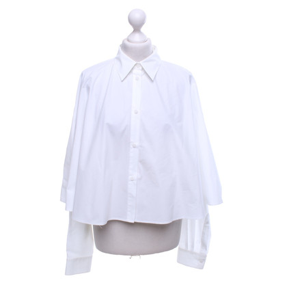 MM6 by Maison Margiela Blouse cape in white
