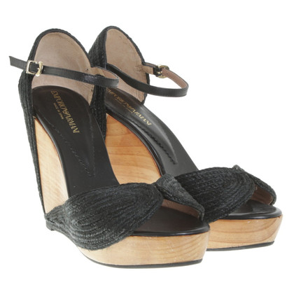 Armani Wedges in Bicolor