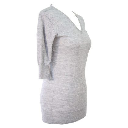 All Saints V-neck sweater in grey