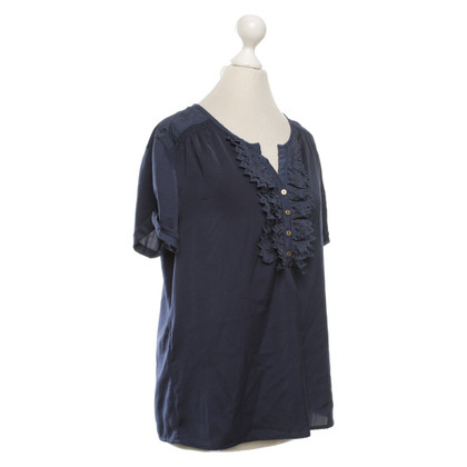 Maison Scotch Top in blu scuro