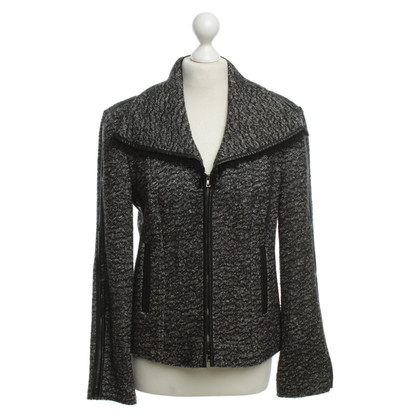 Marc Cain Wool jacket with leather details