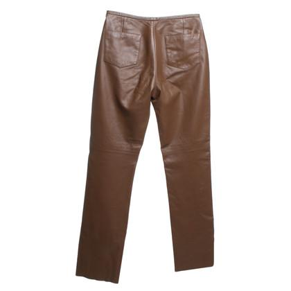 Hugo Boss Leren broek in bruin