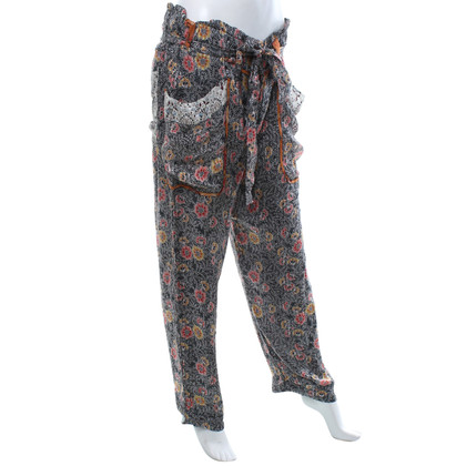 Isabel Marant Silk trousers with pattern
