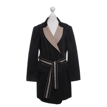 Paule Ka Waisted jacket in Black Beige
