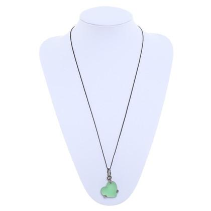 Pomellato Groene hart hanger ketting