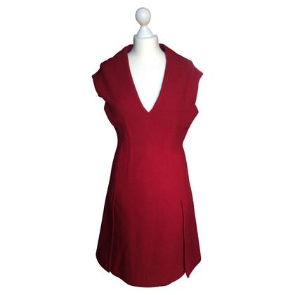 Prada vestito di lana rossa