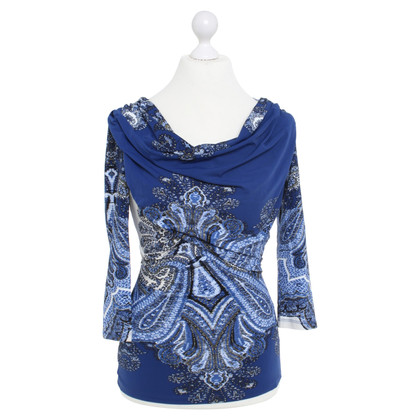 Roberto Cavalli top with pattern