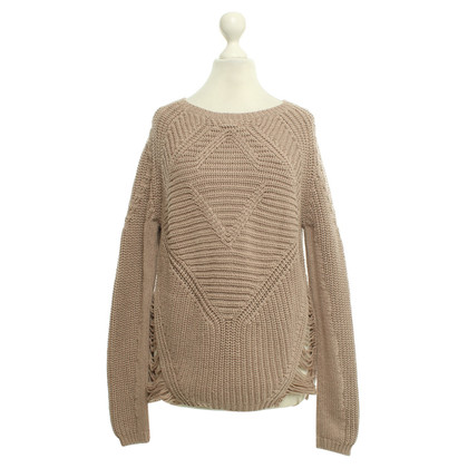 Maje Knitted sweater in nude
