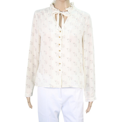 Hobbs Silk blouse with pattern
