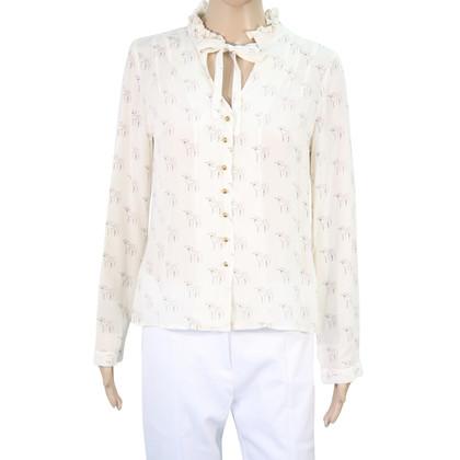 Hobbs Zijden blouse met patroon