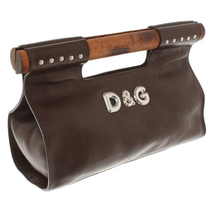 D&G in pelle clutch