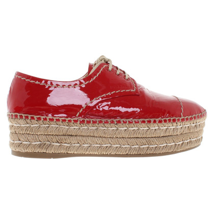 Prada Lace-up shoes in red