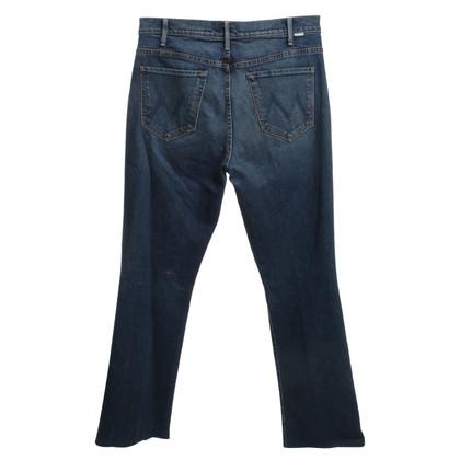 Mother Jeans bleu foncé