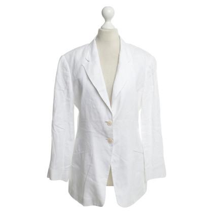 Armani Collezioni Linen Blazer in white