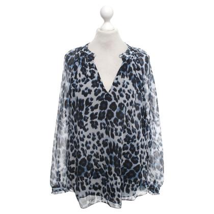 Diane von Furstenberg Blusa in seta con stampa leopardo