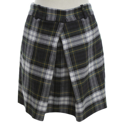 Alexander McQueen skirt with checked pattern