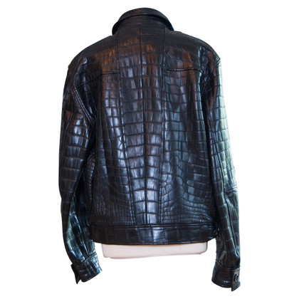 Brioni Jacket made of crocodile leather