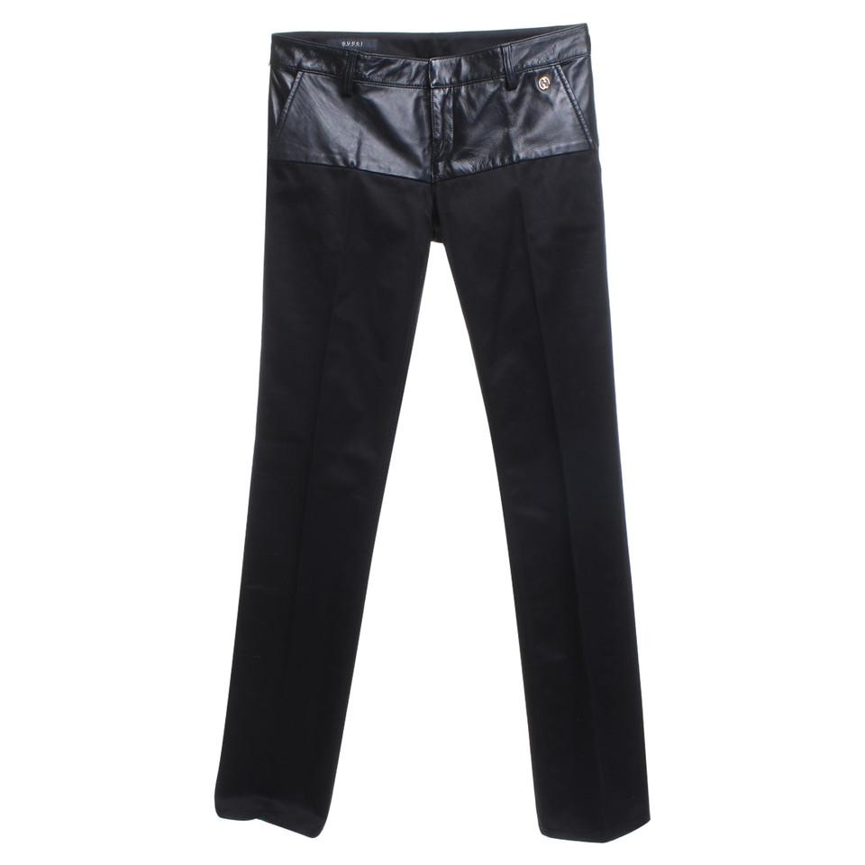Gucci broek met lederen bekleding koop tweedehands gucci broek met lederen bekleding voor 150 - Lederen bekleding ...