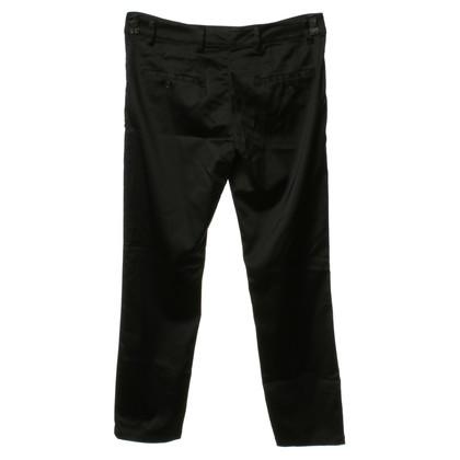Prada Pantalone in raso nero