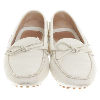 Car Shoe Loafers in white