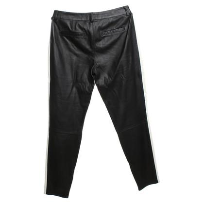 Set Leren broek in zwart