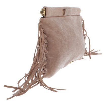 Miu Miu clutch with fringe decor