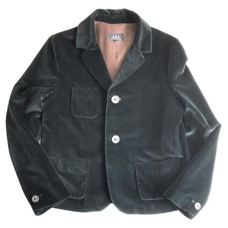 A.P.C. Kurze Jacke aus Samt Schwarz