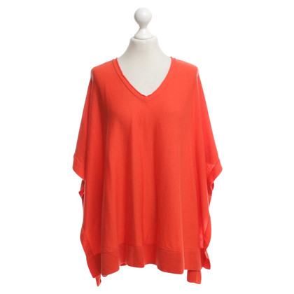Laurèl Strick-Poncho in Orange