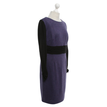 Barbara Schwarzer Kleid mit Hahnentritt-Muster