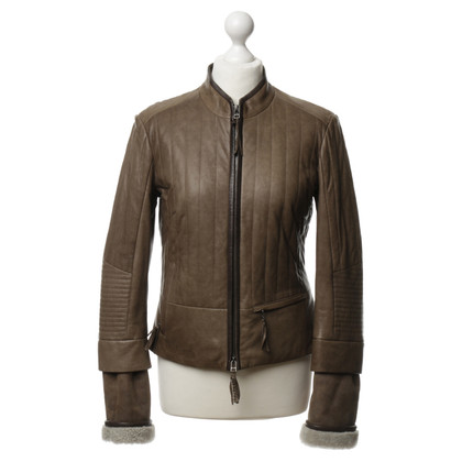 Marc Cain Leather jacket biker look