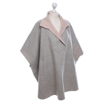 Paul & Joe Poncho in Grau/Rosa